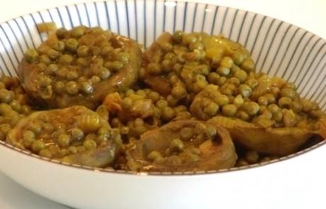 מתכון תבשיל ארטישוק אפונה וסלרי | ג'סיקה הלפרין