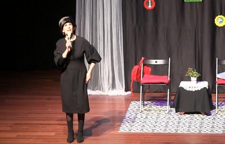 הרבנית ימימה מזרחי  בשיעור מיוחד לקראת פורים, משנה שעברה